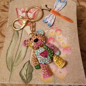 Accessories - 💎 Multi Color Gemstone Teddy Bear 🐻Keychain/👜📿